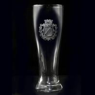 Pilsner Beer Glass, Family Crest