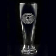 Pilsner Beer Glass, Skull and Bones