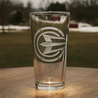 Engraved Ray Cash Care Beer Pint Glasses