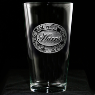 Pub Pint Pilsner Glass Engraved with Name