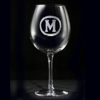 Red Wine Glasses, Engraved Stemware