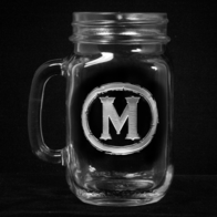 Rustic Engraved Mason Jar
