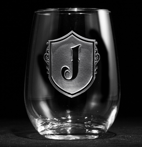Shield Stemless Wine Glass