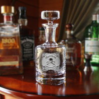 Skull Crossbones Decanter