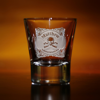 Skull Crossbones Shot Glass for Groomsman
