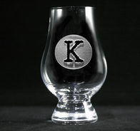 Typewriter Font Engraved Glencairn Glass