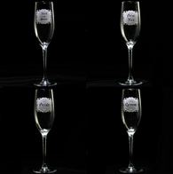 Wedding Bridal Party Champagne Flutes Glasses Set