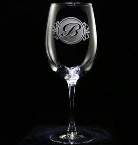 Wine Glasses with Monograms, Wedding Gifts