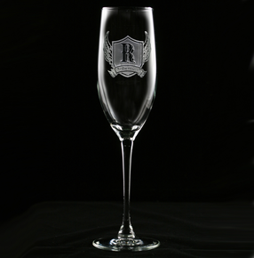 Wings and Shield Champagne Flute