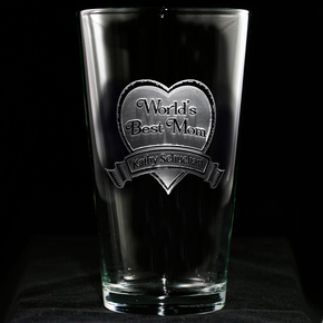World's Best Mom Pint Pub Glass