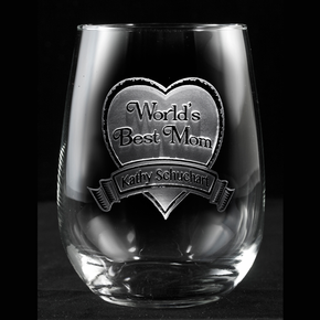 World's Best Mom Stemless Wine Glass