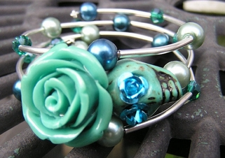 Day of the Dead Skull Wrap Around Bracelet #3