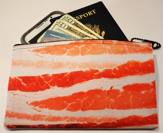 Neoprene Zippered Bag (BACON) (MEDIUM)
