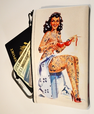 Neoprene Zippered Bag (TATTOOED-NUDE) (MEDIUM)