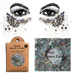 Silver Space Cowgirl Glitter