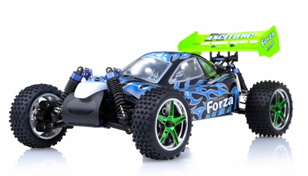 1/10 2.4Ghz Exceed RC Forza .18 Engine RTR Nitro Powered Off Road Buggy Fire Black