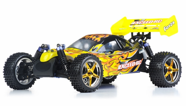 1/10 2.4Ghz Exceed RC Forza .18 Engine RTR Nitro Powered Off Road Buggy (Fire Yellow)
