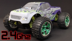 1/10 2.4Ghz Exceed RC Infinitve Nitro Gas Powered RTR Off Road Monster 4WD Truck Fire Green