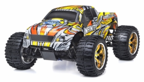 1/10 2.4Ghz Exceed RC Infinitve Nitro Gas Powered RTR Off Road Monster 4WD Truck Stripe Yellow
