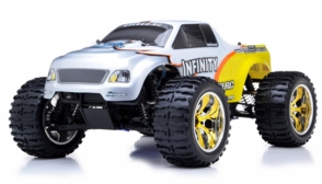 1/10 2.4Ghz Exceed RC Infinitve Nitro Gas Powered RTR Off Road Monster 4WD Truck (Yellow)