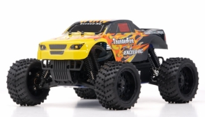 1/16 2.4Ghz Exceed RC ThunderFire Nitro Gas Powered  RTR Off Road Truck Fire Yellow