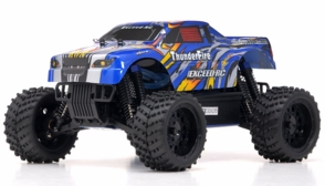 1/16 2.4Ghz Exceed RC ThunderFire Nitro Gas Powered  RTR Off Road Truck Stripe Blue