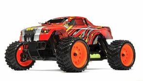 1/16 2.4Ghz Exceed RC ThunderFire Nitro Gas Powered  RTR Off Road Truck Stripe Red