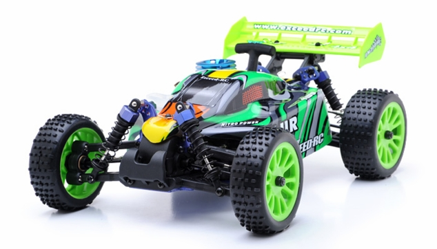 1/16 Exceed RC Blur Nitro Remote Control RC Buggy (WildGreen 2.4G RTR)