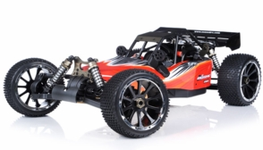 1/5th Giant Scale Exceed RC Barca 30cc Gas-Powered Off-Road Remote Control RC Buggy Almost Ready to Run ARTR (AA Red)