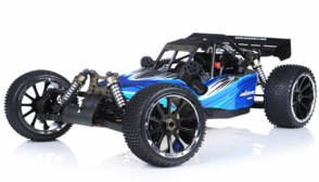 1/5th Giant Scale Exceed RC Barca 30cc Gas-Powered Off-Road Remote Control RC Buggy w/ 2.4Ghz 100% Ready-to-Run (AA Blue)