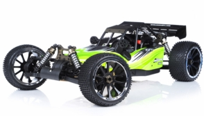 1/5th Giant Scale Exceed RC Barca 30cc Gas-Powered Off-Road Remote Control RC Buggy w/ 2.4Ghz 100% Ready-to-Run & Fail Safe (AA Green)