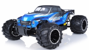 1/5th Giant Scale Exceed RC Hannibal 30cc Gas-Engine Remote Controlled Off-Road RC Monster Truck Almost Ready to Run ARTR  & Fail Safe (AA Blue)