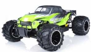 1/5th Giant Scale Exceed RC Hannibal 30cc Gas-Engine Remote Controlled Off-Road RC Monster Truck Almost Ready to Run ARTR & Fail Safe (AA Green)