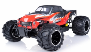 1/5th Giant Scale Exceed RC Hannibal 30cc Gas-Engine Remote Controlled Off-Road RC Monster Truck Almost Ready to Run ARTR  & Fail Safe (AA Red)