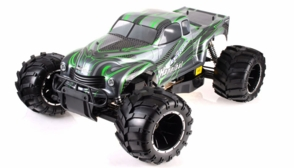 1/5th Giant Scale Exceed RC Hannibal 30cc Gas-Engine Remote Controlled Off-Road RC Monster Truck  Almost Ready to Run ARTR (Green)