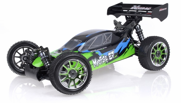 1/8Th 2.4Ghz Exceed RC MadFire Electric Brushless Racing Edition RTR Ready to Run Buggy Gama Green