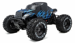 1/8Th EP Mad Beast Monster Truck Racing Edition Almost Ready to Run ARTR w/ 540L Brushless Motor/ ESC (Black/Blue)