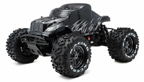 1/8Th EP Mad Beast Monster Truck Racing Edition Ready to Run w/ 540L Brushless Motor/ ESC/ Lipo Battery (Black/Silver)