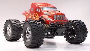 1/8th Exceed-RC MAD BEAST Nitro-Powered Monster RC Truck Almost Ready to Run ARTR  Red