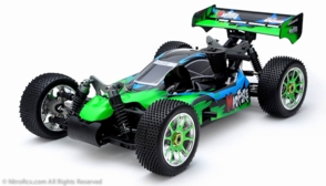 Exceed RC 1/8th Scale MadFire .21 Nitro Fuel 4WD Remote Control RC Buggy Almost Ready to Run ARTR  for Beginners [Gama Green]