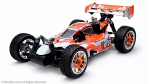 Exceed RC 1/8th Scale MadFire .21 Nitro Gas 4WD RC Buggy Almost Ready to Run ARTR  for Beginners [Gama Orange]