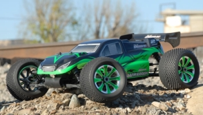 Exceed RC 1/8th Scale MadWarrior Nitro Powered Remote Controlled Truggy w/ .21 Engine, 4WD,Almost Ready to Run ARTR  for Beginners [Star Green]