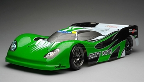 Exceed RC 2.4Ghz MadSpeed Drift King 1/10 Electric Ready to Run Le Mans Drift Car(Green)
