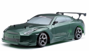 Exceed RC 2.4Ghz MadSpeed Drift King 1/10 Electric Ready to Run Skyline R35 Drift Car(SK-Green)