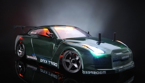Exceed RC 2.4Ghz MadSpeed Drift King Brushless Edition 1/10 Electric Ready to Run Drift Car w/ LED Head Lights (SK-Green)