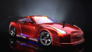 Exceed RC 2.4Ghz MadSpeed Drift King Brushless Edition 1/10 Electric Ready to Run Drift Car w/ LED Head Lights (SK-Red)