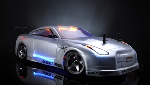 Exceed RC 2.4Ghz MadSpeed Drift King Brushless Edition 1/10 Electric Ready to Run Drift Car w/ LED Head Lights (SK-Silver)