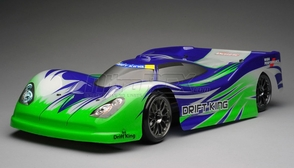 Exceed RC 2.4Ghz MadSpeed Drift King Brushless Edition 1/10 Electric Ready to Run  Le Mans Drift Car  (Green/Purple)
