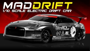 Exceed RC 2.4Ghz MadSpeed Drift King Edition 1/10 Electric Ready to Run Drift Car (Grey)