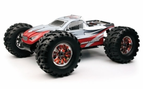 Professional 2.4Ghz 1/8th Scale Exceed RC MadStorm Monster Truck .28 Engine Nitro Power 100% Ready to Run Racing Edition [BravoRed]